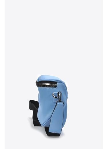 Vizon Ayakkabı Omuz Çantası Mavi